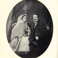 Fig2. Karl Dauthendey (Father of the Poet), with His Fiancee.